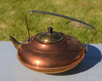 Mid century modern tea kettle | Etsy