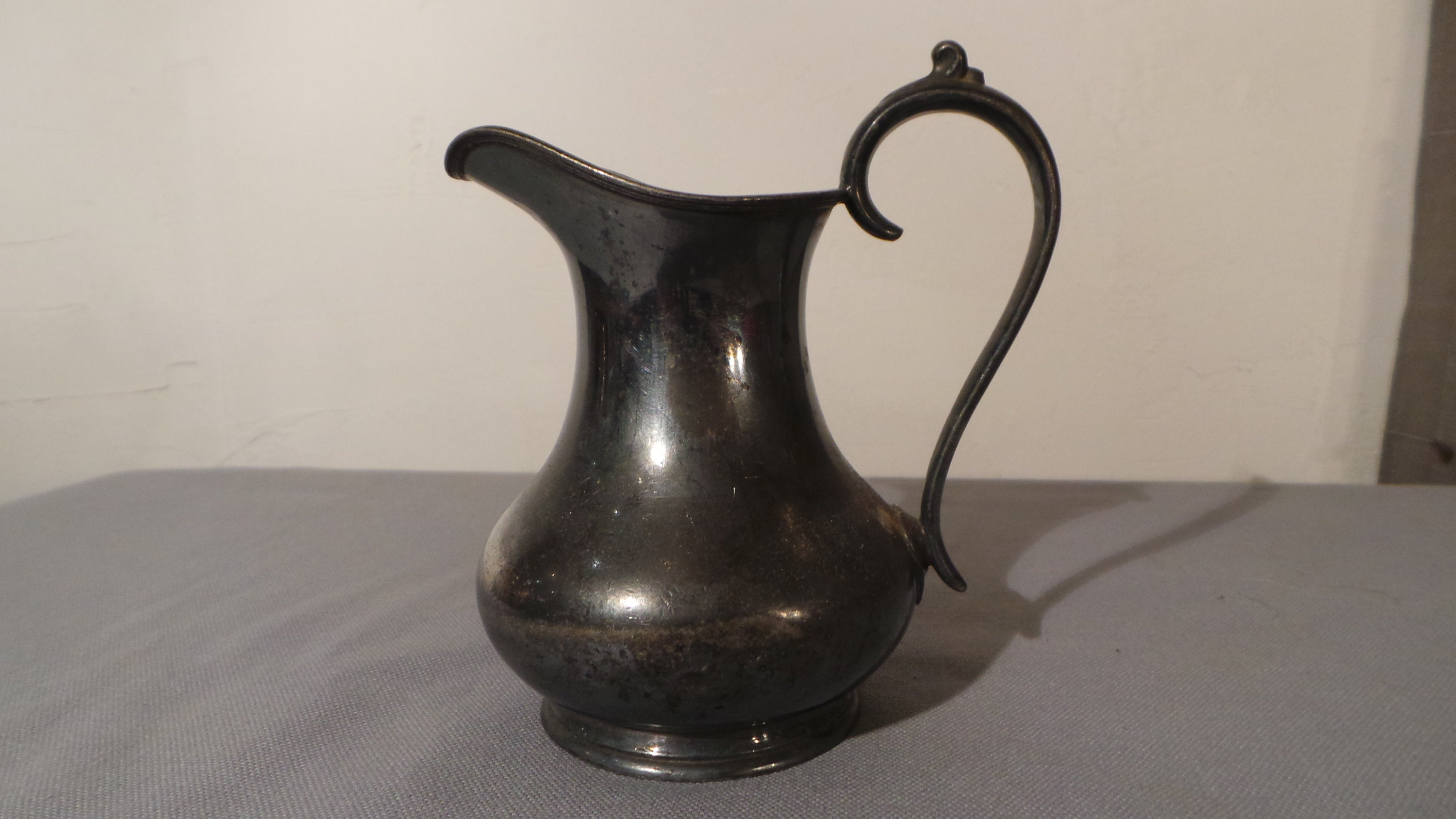 Silver Plate Milk Jug English James Dixon Sons Sheffield Pitcher Table Ware Kirby Beard Co Epbm Tarnished As Found