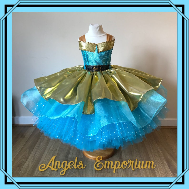 5a50fadb4 Surprise Doll Luxe Inspired Tutu Party Dress Turquoise Organza