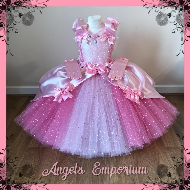 ae721c1cb062 Luxury Pink Princess Cinderella Aurora Costume Tutu Dress