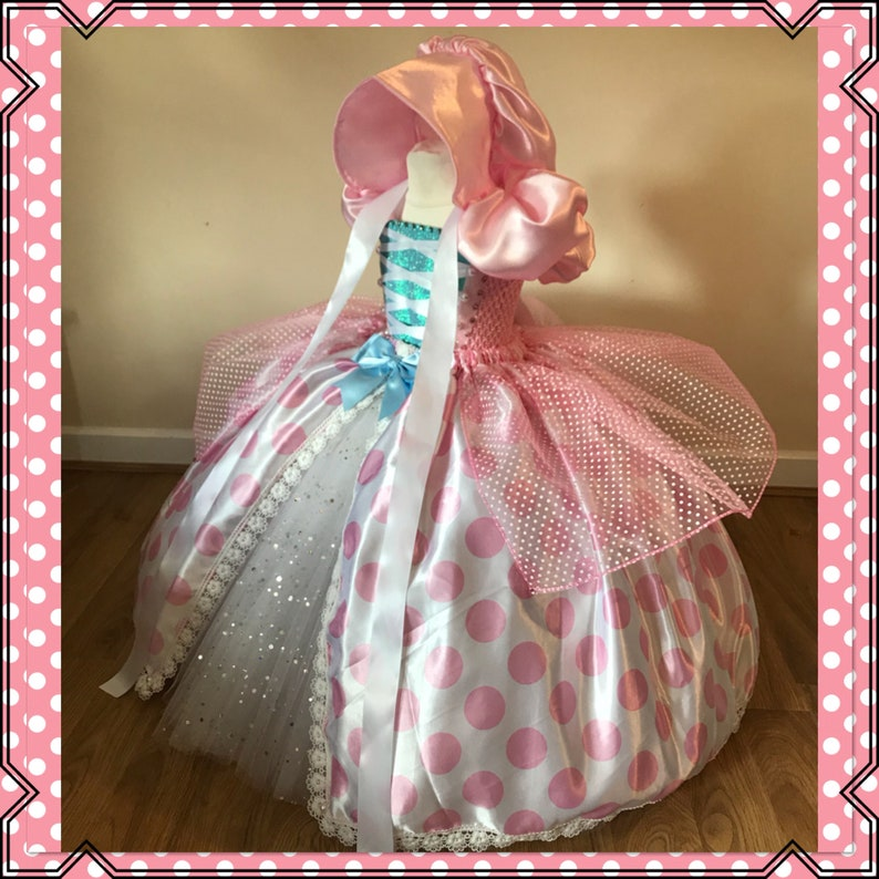47270345ab07 Little BO PEEP Tutu Dress Toy Story Costume Baby Pink Polka