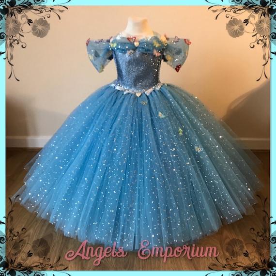376b2b769 New Cinderella Inspired Blue Sparkly Tutu Dress Embellishmed | Etsy