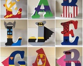 Superhero Marvel Personalised Freestanding MDF Wooden Letters