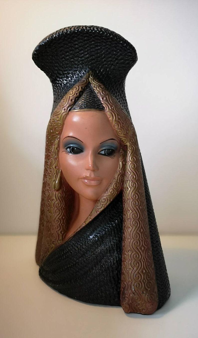 Retro Vintage Mid Century Tretchikoff Chalk Ware Spanish Lady Lamp