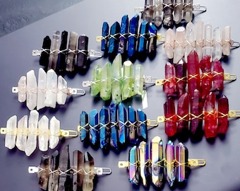 CRYSTAL BARETTES- Multiple Colors to Choose From!