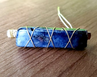 Single Stone Crystal Barrette- 20 Gemstones to Choose From!