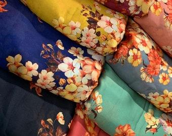 Satin georgete fabric by yard loose fabric for women saree blouse dresses Anarkali Punjabi suits dupatta designer salwar kameez DIY fabrics