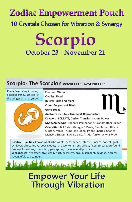 Scorpio Zodiac Empowerment Pouch