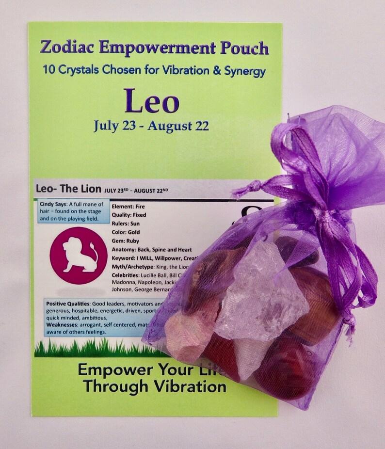 Zodiac Empowerment Pouch:Leo