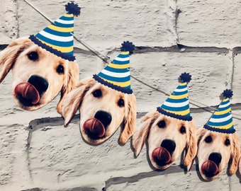 Personalized Face Photo Banner - Dog Birthday banner, Baby Birthday, Face Banner, Birthday Decor, Party props, Celebration, Anniversary