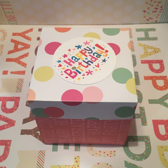 Birthday Gift Box Pop Up Scrapbook Explosion Exploding Box Etsy