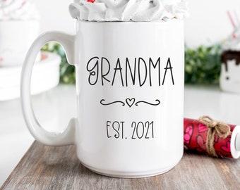 New Grandma Mug,First Time Grandma Mug,Grandma Mug,Grandma Gifts,Soon To Be Grandma,Grandma Baby Reveal,Grandma To Be Gifts, New Granny Mug