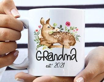Grandma Est 2021, Grandma Reveal, Soon To Be Grandma Mug, New Grandma Gift, New Grandma Mug, Grandma Established Mug, Grandma To Be Mug