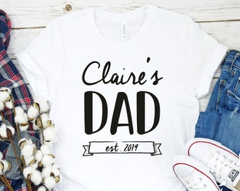 2ea13e9ac1f9 New Dad Shirt,Personalized Dad,First Time Dad,Dad Gift,Pregnancy Reveal,New  Dad Gift,Promoted To Dad,New Dad Tee,New Daddy T Shirt,Dad Tee
