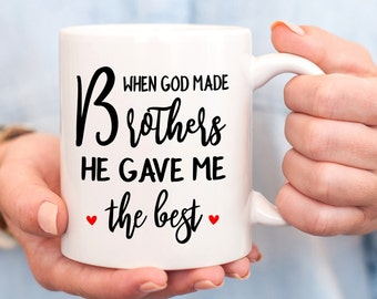 Best Brother MugBrother GiftBrother Wedding GiftGift For BrotherFrom SisterBrother Birthday Idea