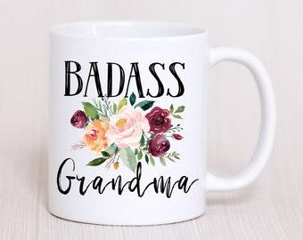 Badass Grandma Mug,Mothers Day Gift For Grandma,Funny Grandma Gift,Grandma Birthday,New Grandma Mug,Grandma Baby Reveal,Future Grandma Gift