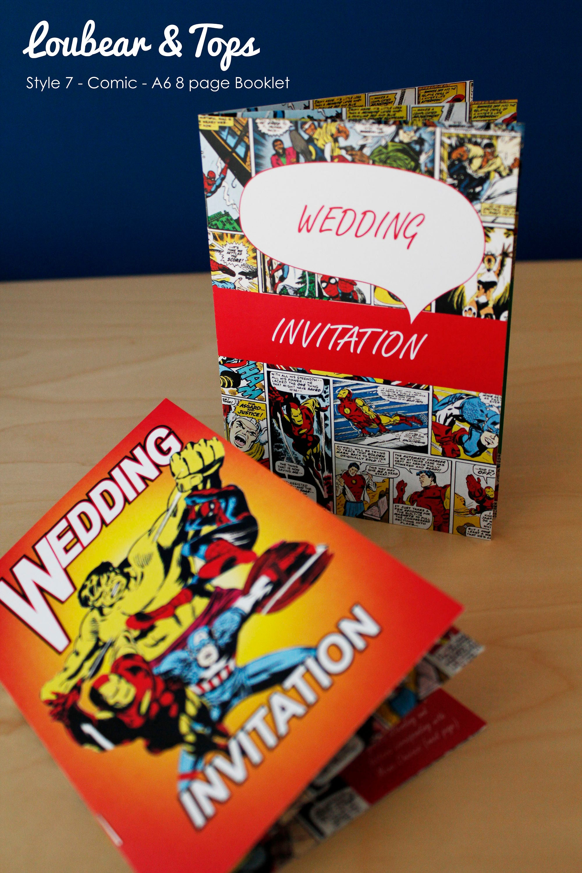 Comic Strip / Cartoon Wedding Invitation