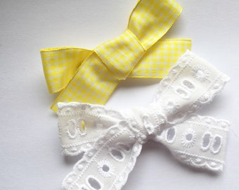 Summer duo, oversized bow, gingham bow