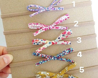 Liberty Of London dainties, little hair bows, spring bows