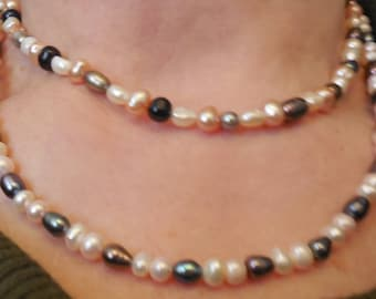 Chokers Pearl Double necklace