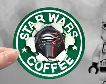 Star Wars Coffee Kylo Ren Sticker - The Force Awakens - The Last Jedi - The Rise of Skywalker
