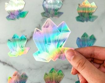Holographic crystals sticker - rainbow sticker - metallic sticker