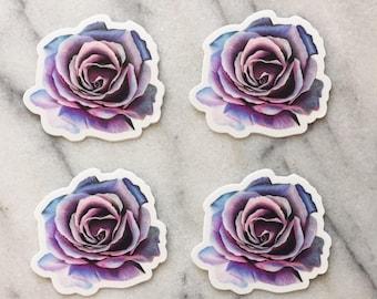 Pink and purple flower sticker - wall sticker - rose sticker - scrapbooking sticker - phone sticker - laptop sticker - pretty sticker