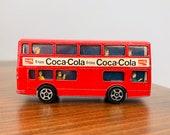 Vintage Gorgi Juniors quot Daimler Fleetline quot Double Decker Coca Cola Bus, 70 39 s , Britain, VG EXC, Coke Collectible, vintage diecast, Bonus Too