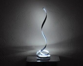 LED bedside lamp, contemporary spiral LED table lamps, Modern Desktop Lamp