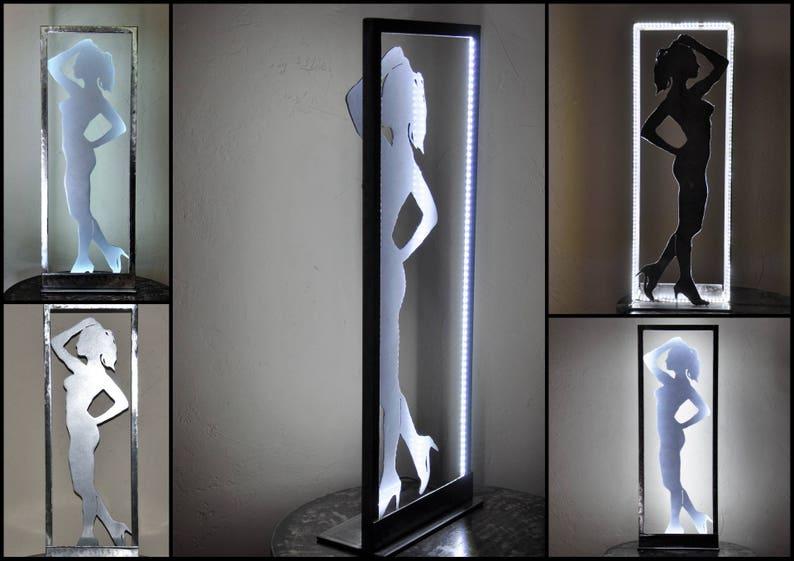 A Éclairé Ox8wkp0n Par Lampe Ruban Silhouette Led De Femme K1T3lJcF