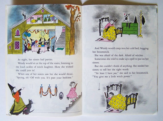 The Witch Who Was Afraid of Witches by Alice Low - Pictures by Karen  Gundersheimer - Children's Book - Halloween Classic