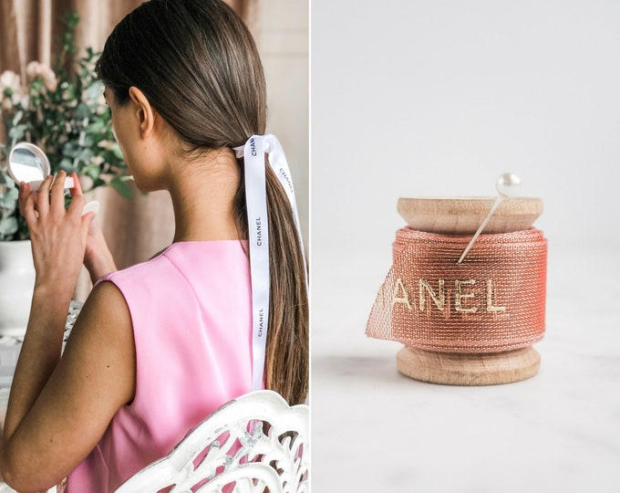 the Chanel ribbon | pink & gold