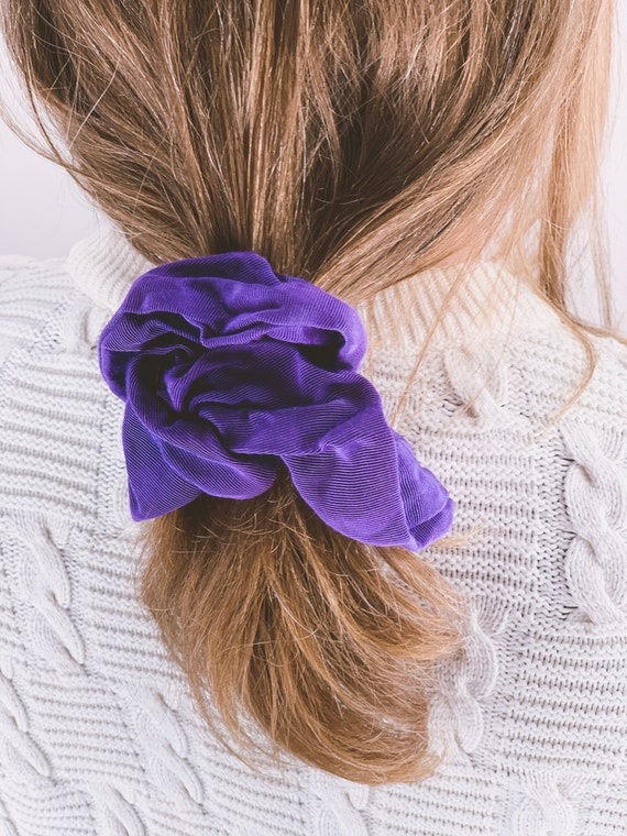 Indra grosgrain scrunchie | vintage purple grape h