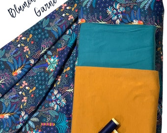 """Fabric Pack Jersey """"Tropical Forest"""" Sewing Kit Sewing Kit Blue"""