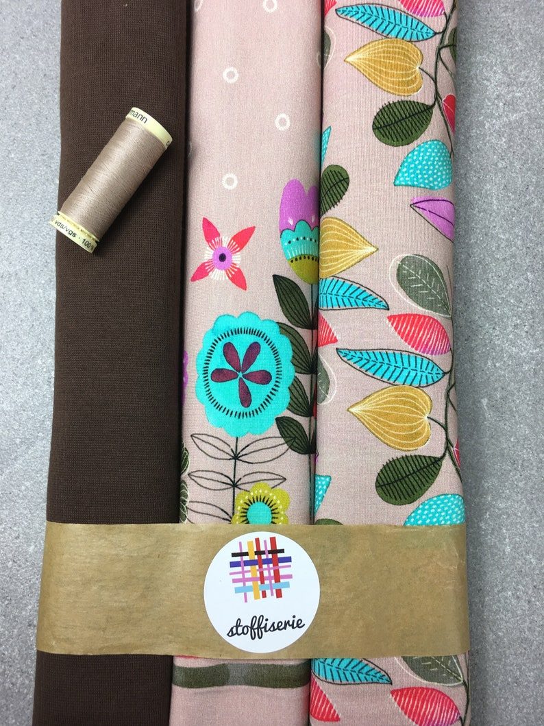 Fabric package Jersey Nevia Border Hilco Flowers