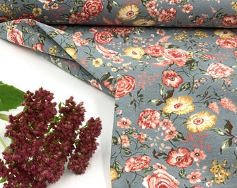 "French Terry Sommersweat ""Margitta"" - HILCO Fabric Girls Roses Flowers"