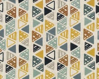Cotton fabric, canvas - 50 cm Westphaliafabrics, triangles, double width
