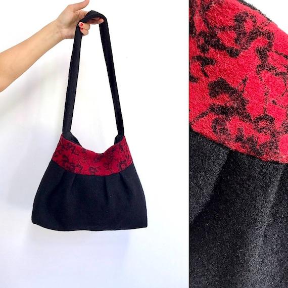 f92d4013ce Women s Vintage Felted Bag Handbags Woolen cloth Bag Black