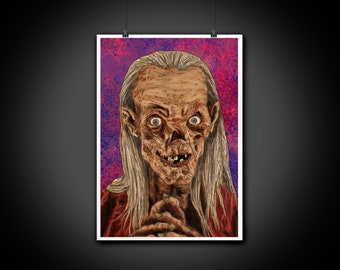 Crypt Keeper Tales from the Crypt Color Portrait Art Illustration Print