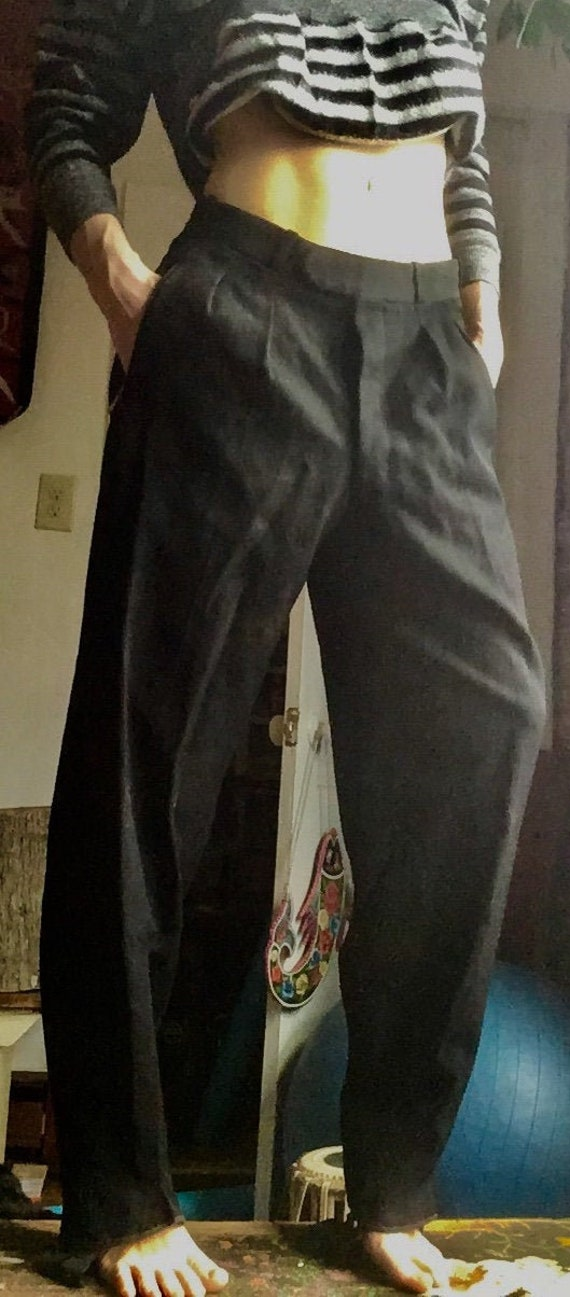 Vintage 1940s German 100% wool women's ski pants;