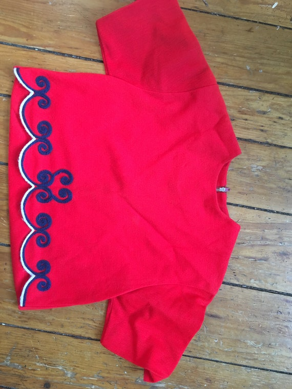 50s or 60s OOAK vintage handmade cropped bright sc