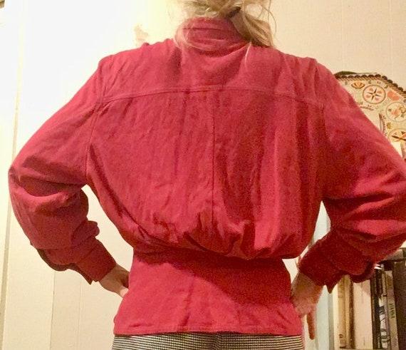 Small Medium Vtg Silk Bubblegum Pink 80/'s Button Up blouse
