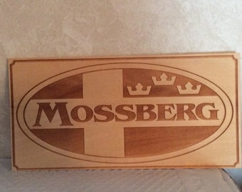 MOSSBERG Laser Engraved Wood Plaque/Sign FREE SHIP