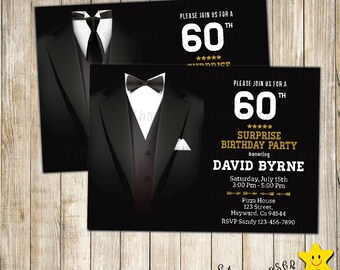 Bow tie invitations etsy digital gentleman birthday invitation 30th birthday 50th birthday bow tie invitation any age filmwisefo