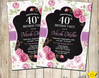 Digital Vintage Birthday Invitation Vintage Car Invite 70th
