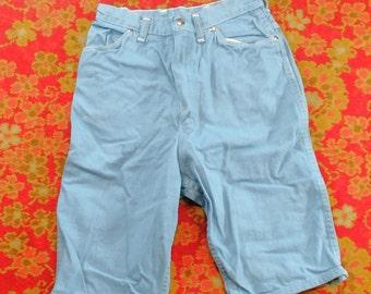 60's Misses Wrangler Blue Denim Capris Size 16 Sanforized Made in U.S.A. Vintage Women's  Pants Fashion Clothing (vc3)
