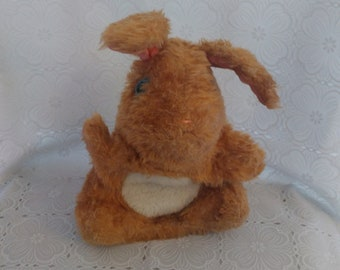 Vintage Fisher Price #163 Hand Puppet Hoppy Hoppie Bunny Rabbit plush 1981 (2)