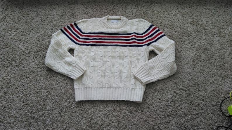 a8f5e9e2e Vintage JC Penney Boys 100% Orlon Acrylic Crew New Sweater