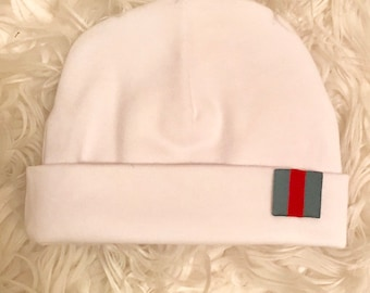 fcff4f161c5 Custom Made Gucci or Burberry Newborn Beanie Newborn Cap with