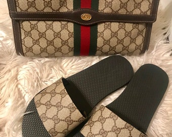 b26e11d4c Custom Made Gucci Slide/Upcycled Gucci Slide/FREE GIFT w/ Purchase